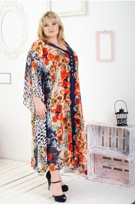 Платье женское Эдит оранжевый
