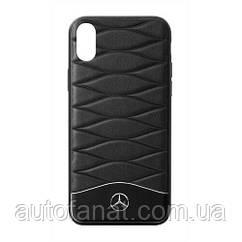 Оригинальный кожаный чехол для iPhone® X Mercedes Cover for iPhone® X, Black (B66958600)