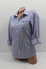 Женская рубашка в полоску хлопок с длинным рукавом оптом Турция, фото 3