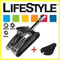 Мультитул, карманный набор инструментов для велосипеда + Силиконовый чехол на седло велосипеда в Подарок