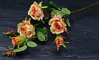 Гілка троянд оранжевого кольору преміум, фото 1