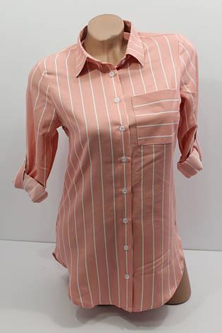 Женская рубашка в полоску с длинным рукавом оптом Турция, фото 2
