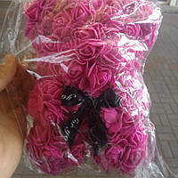Мишки из 3d роз ручной работы 25см, фото 1