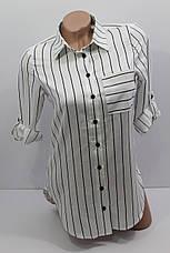 Женская рубашка в полоску с длинным рукавом оптом Турция, фото 3