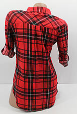 Женская рубашка больших размеров штапельная с длинным рукавом оптом Турция, фото 2