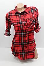 Женская рубашка больших размеров штапельная с длинным рукавом оптом Турция, фото 3