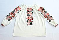 Женская белая льняная рубашка с вышивкой Бандеровка MOTYV by Piccolo L