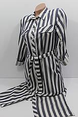 Женская рубашка-платье в полоску с длинным рукавом оптом Турция, фото 3