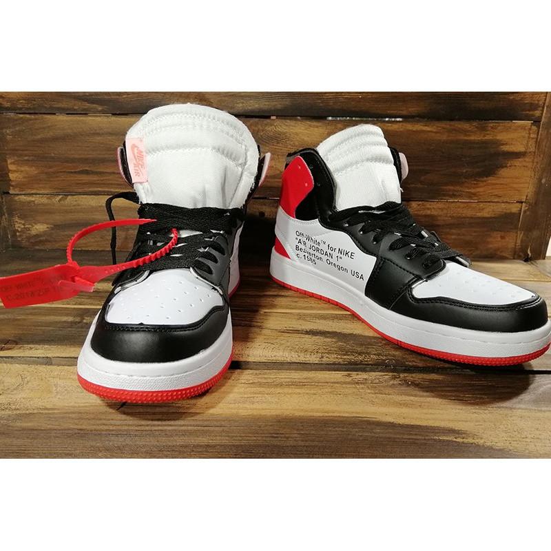nowe tanie tanie z rabatem najtańszy Мужские кроссовки Nike Air Jordan 1 Retro High x Off White белые с черным и  красным р.40 Акция -44%! - Bigl.ua