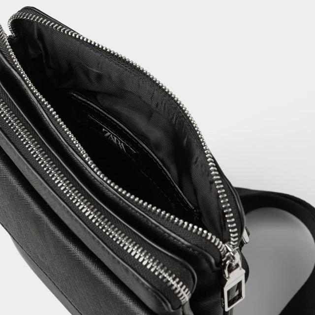Черная мужская сумка через плечо Zara