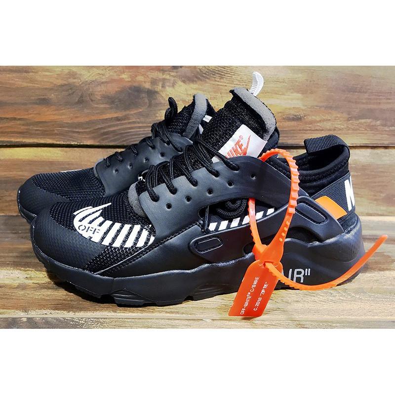 b32c7b30 Женские кроссовки Nike Air Huarache x Off White черные р.36 Акция -46%