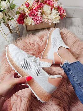 Кроссовки женские легкие Сетка белые
