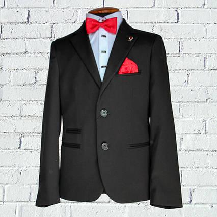 """Школьный костюм для мальчика """"Бруклин"""" (116-176)  укороченный черный, фото 2"""