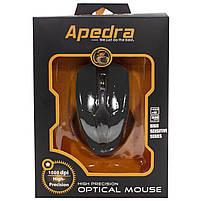 ✓ Мышь проводная Apedra M3 Black USB 1000 dpi для ноутбуков Пк компьютерная, фото 8