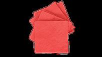 Салфетки бумажные 33х33см, 2-х сл., красные, 1/4 сл., 100 шт/уп.