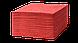 Салфетки бумажные 33х33см, 2-х сл., красные, 1/4 сл., 100 шт/уп., фото 2