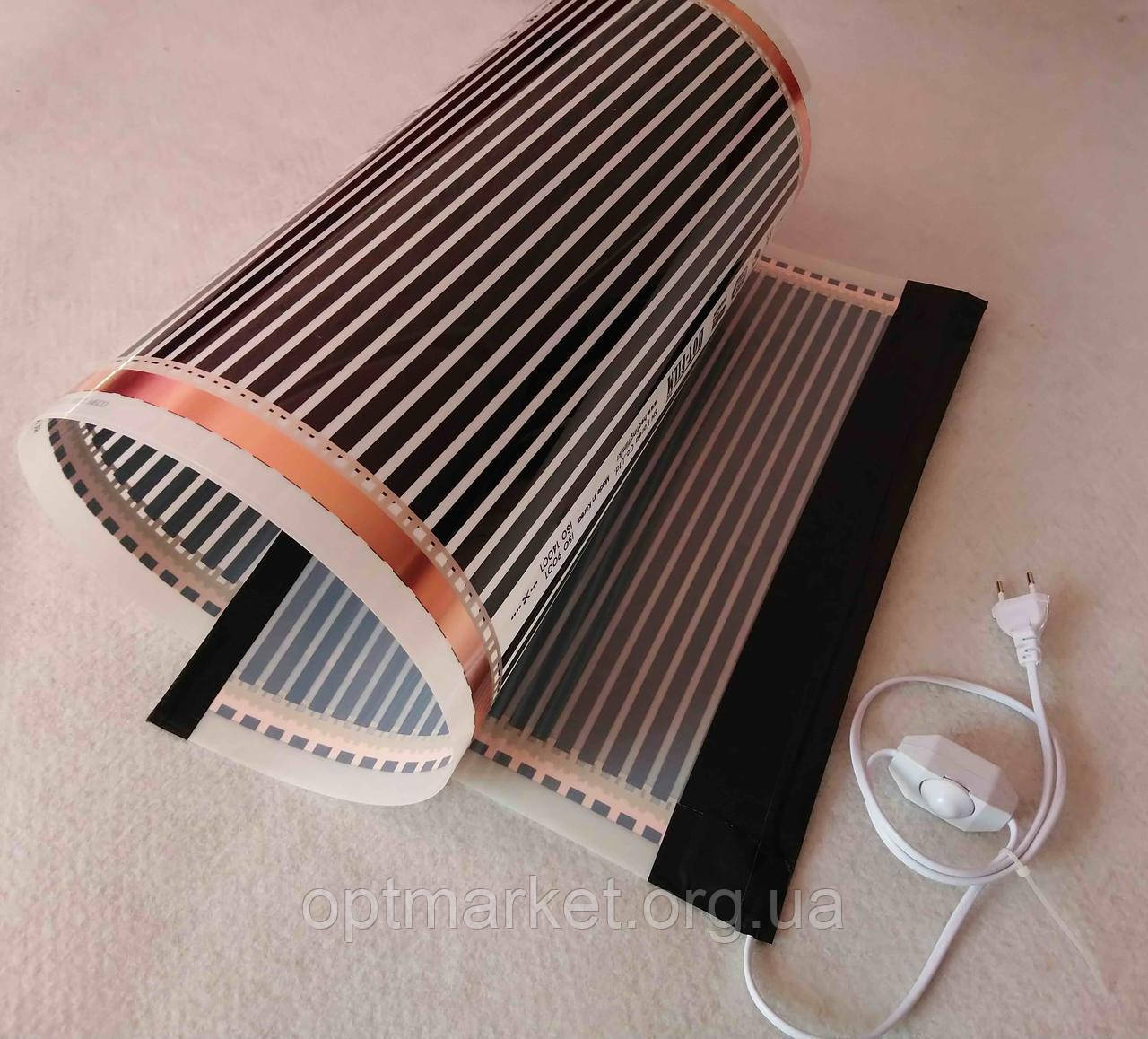 Інфрачервоний килимок-обігрівач 100х300 (обігрівач для курчат, обігрівач для поросят, кроликів) 600Вт