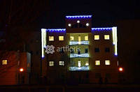 Украсить фасад на новый год, новогодняя иллюминация зданий, новогоднее оформление елки