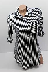 Женская рубашка штапельная с длинным рукавом оптом Турция