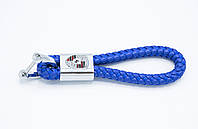 Брелок плетеный с логотипом PORSCHE плетеный берлок с логотипом порше для автомобилиста + карабин/синий