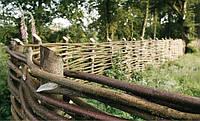 Плетеный забор из лозы, изготовление плетеного забора из лозы