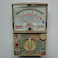 Мультиметр аналоговый SUNWA KS-390 (1000В, DC250мA, 20МОм, 100мкФ, hFE, звуковая прозвонка)