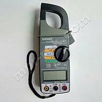 Клещи токоизмерительные цифровые SUNWA 2007B (AC600A, 750В, 40МОм, Ø25мм, звуковая прозвонка)