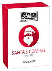 Презервативи з полуничним ароматом Secura Santas Coming (3 шт.)