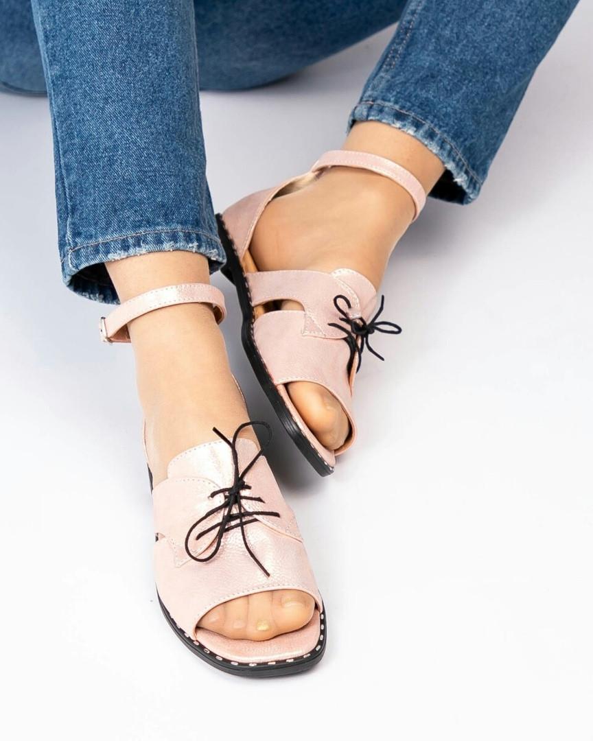 Туфли женские открытые цвета пудры