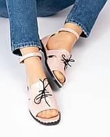Туфли женские открытые цвета пудры, фото 1