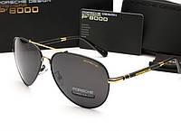 Мужские солнцезащитные очки Porshe Design 8515 (цвет черный с золотом)