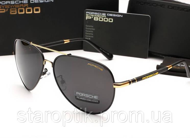 Мужские солнцезащитные очки Porshe Design 8515 (цвет черный с золотом), фото 1