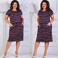 Платье женское лето большой размер 173 (50/52, 52/54) СП