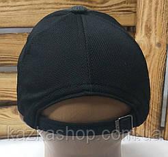 """Мужская кепка в стиле """"Fila"""" (копия) темно-серая, трикотаж, сезон весна-лето, большая вышивка, регулятор, фото 3"""