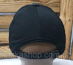 """Мужская кепка в стиле """"Fila"""" (копия) темно-серая, трикотаж, сезон весна-лето, большая вышивка, регулятор, фото 2"""