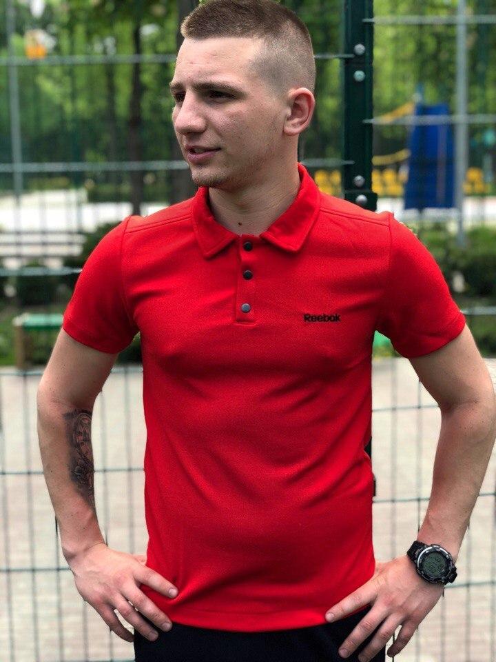 Футболка Поло Мужская красная Reebok (Рибок)