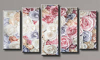 Модульная картина Нежные розы 71х128 см (HAB-100)