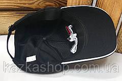 "Мужская кепка в стиле ""Fila"" (копия) черного цвета, лакоста, сезон весна-лето, большая вышивка, на регуляторе, фото 3"