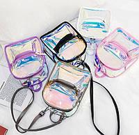 Прозрачный рюкзак голографический, Прозрачный женский рюкзак