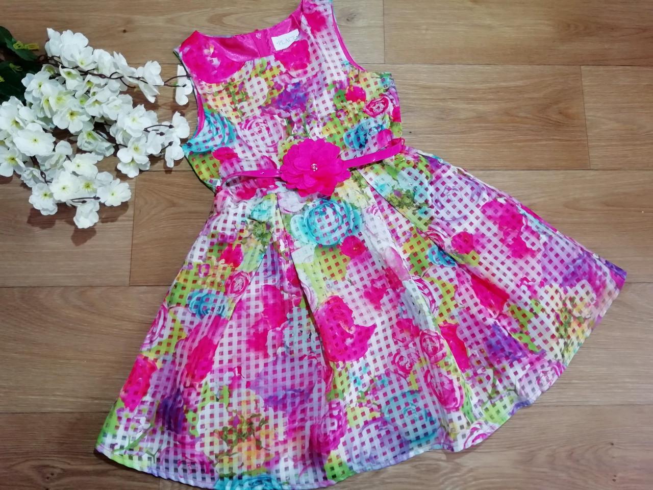 Яркое нарядное пышное платье с поясом для девочки Children's Place (США) (Размер 6-7Т)