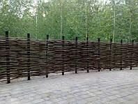 Забор плетеный из орешника, изготовление плетеного забора из орешника