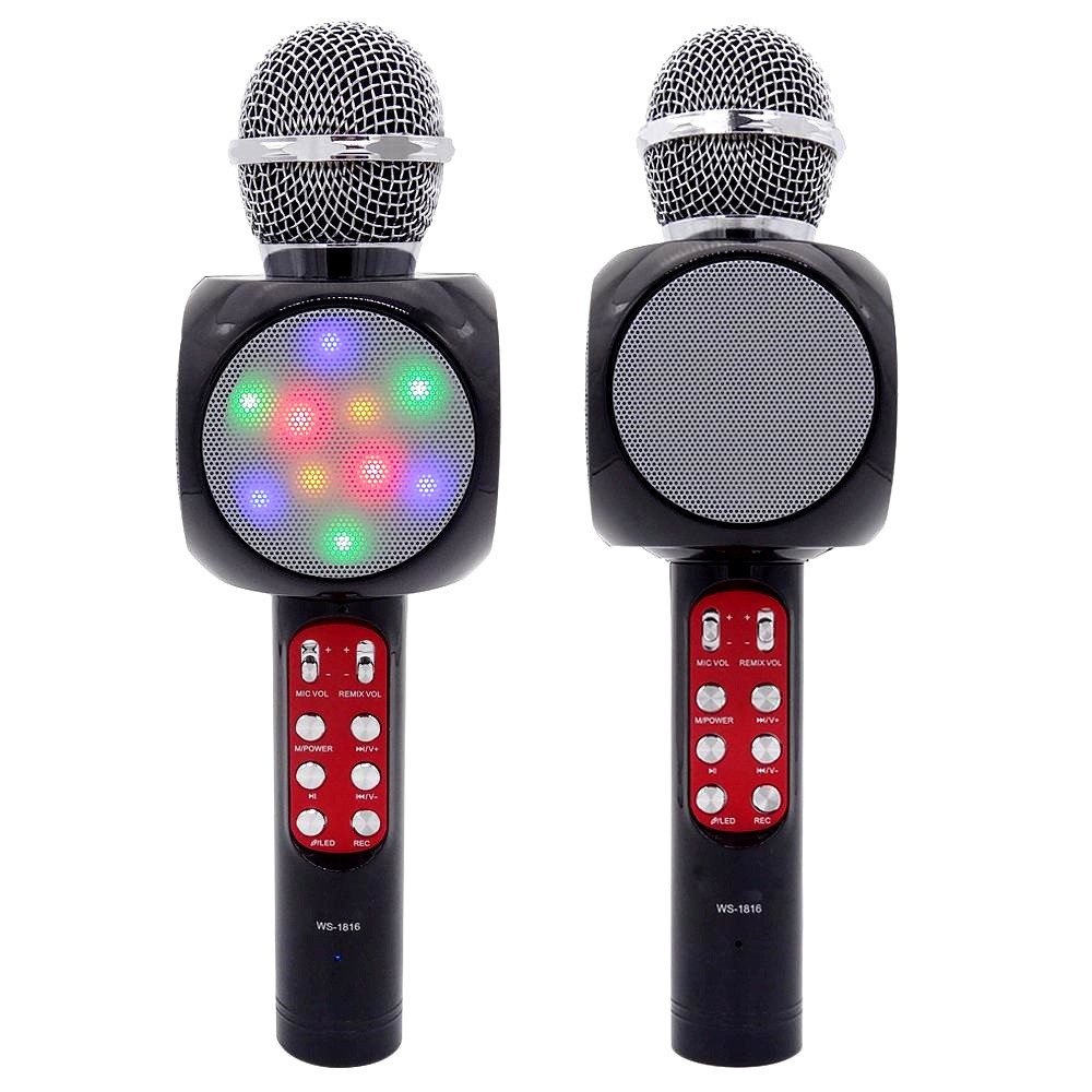 Микрофон караоке WS 1816 Портативный Bluetooth микрофон