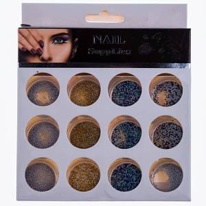 Бульонки для нігтів Nail Supplies(19-2), 12шт