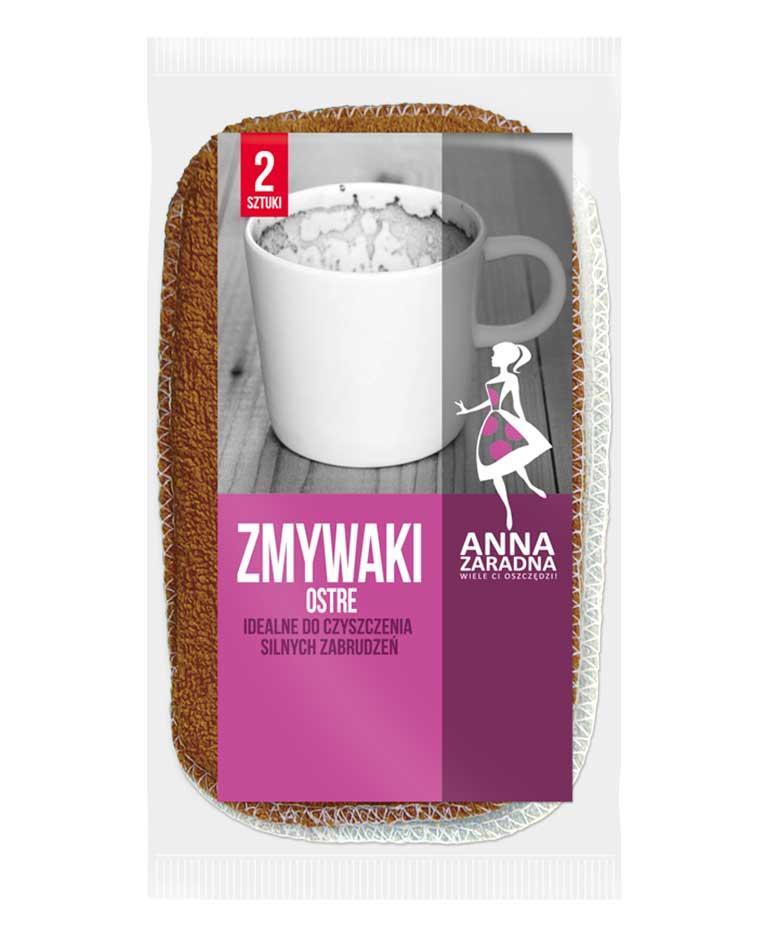 Губка кухонная для чистки острая, 2 шт, Anna Zaradna Zmywaki Ostre