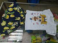 Костюм детский летний для девочки футболка и  юбка Кукла Лол р.116 -128