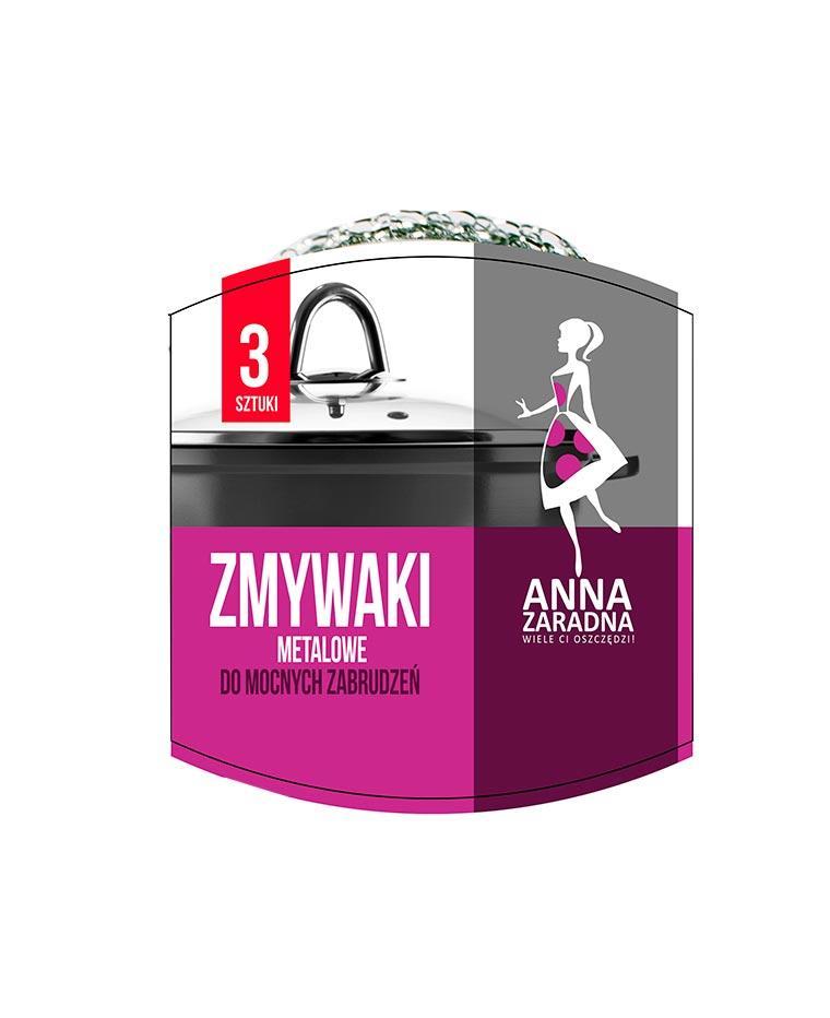 Скребок металлический для тяжелых загрязнений, 3 шт, Anna Zaradna