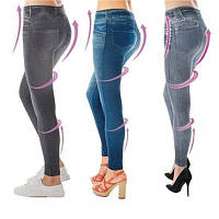 Утягивающие джеггинсы под джинсы Slim N Lift Caresse лосины Jeans серые