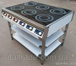 Индукционная плита напольная 6 конфорок по 3,5 кВт
