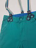 Детские летние шорты на подтяжках на мальчика  1, 5,7 лет, фото 2