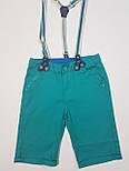 Детские летние шорты на подтяжках на мальчика  1, 5,7 лет, фото 3